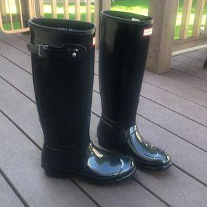 Hunter Rain Boots and Socks - new and never worn